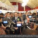 Chairman TEVTA Ali Sarfraz speaking to media