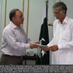 PESHAWAR Sept 11 2013 Secretary Technical Education KP Sajid Khan Jadoon is presenting the first-ever MIS Report to Cheif Minister Pervez Khattak here on