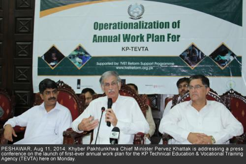 Khyber Pakhtunkhwa Chief Minister Pervez Khattak_first-ever annual work plan
