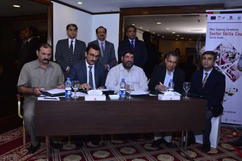 MoU Signing Ceremony between NAVTTC and Textile Sector of Pakistan for Establishment of SSC